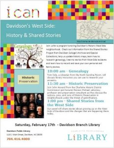 Archives event flyer,